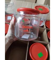 Hủ gia vị thủy tinh Luminarc nắp đỏ