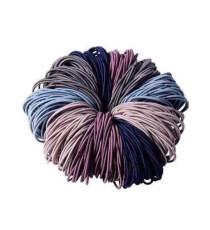 Túi 100 dây cột tóc nhiều màu
