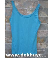 Áo 2 dây cotton màu xanh