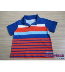 Áo thun bé trai sọc xanh đỏ Oshkosh