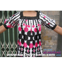 Áo chấm bi vải phi cho nữ GIRL CODE