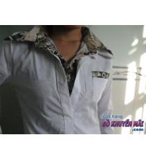 Áo sơmi trắng nữ dạng vest giả L.T