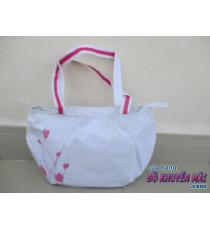Túi xách nữ Pond 2 lớp màu trắng