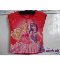Áo thun bé gái 2 búp bê Barbie