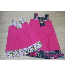 Đầm bé vải cotton 2 dây viền hoa TIM 1980