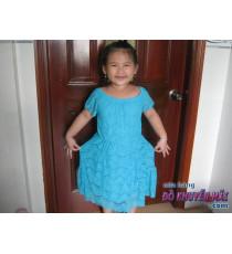 Đầm xanh cho bé hiệu My Michelle