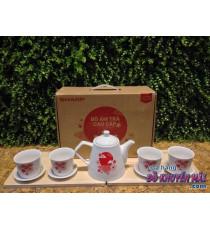 Bộ ấm trà sứ Donghwa quà từ Sharp