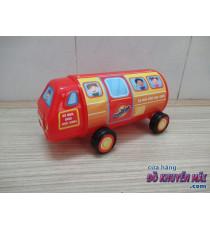 Ống heo hình xe buýt trường học Ovaltine