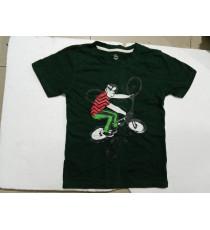 Áo thun cotton bé trai hình bé lái xe đạp