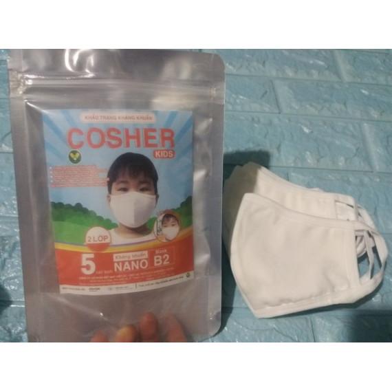 Túi 5 khẩu trang kháng khuẩn trẻ em Cosher