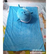 Bộ mền gối cá voi 2 trong 1